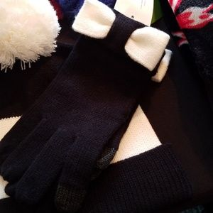 Kate spade bow on top gloves